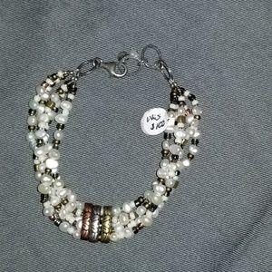 Silpada B2188 multi-metals pearl bracelet